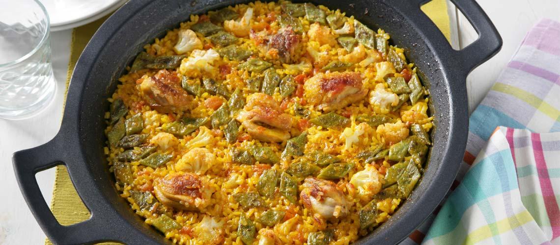 Paella de Pollo de la Huerta