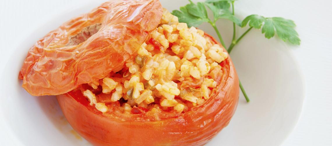 Tomates rellenos de arroz