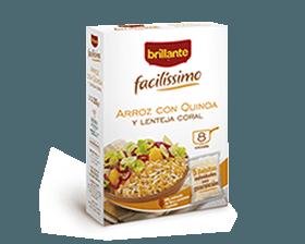 Brillante Facilissimo, arroz con quinoa y lenteja coral