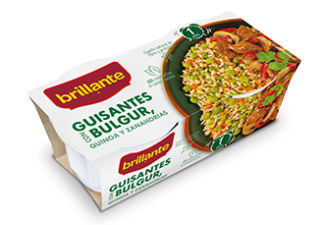 Guisantes con Bulgur, Quinoa y Zanahorias