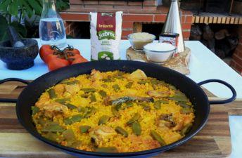 Paella de carne con la barbacoa Ricardo Díaz Gómez - Grill Master Chef