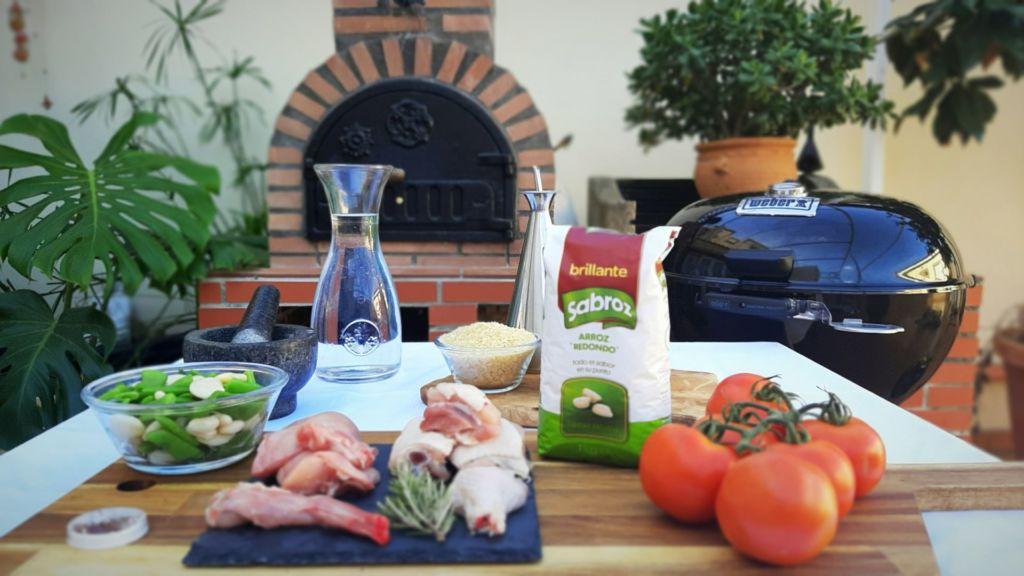 Paella de carne con la barbacoa Ricardo Díaz Gómez (Grill MasterChef)