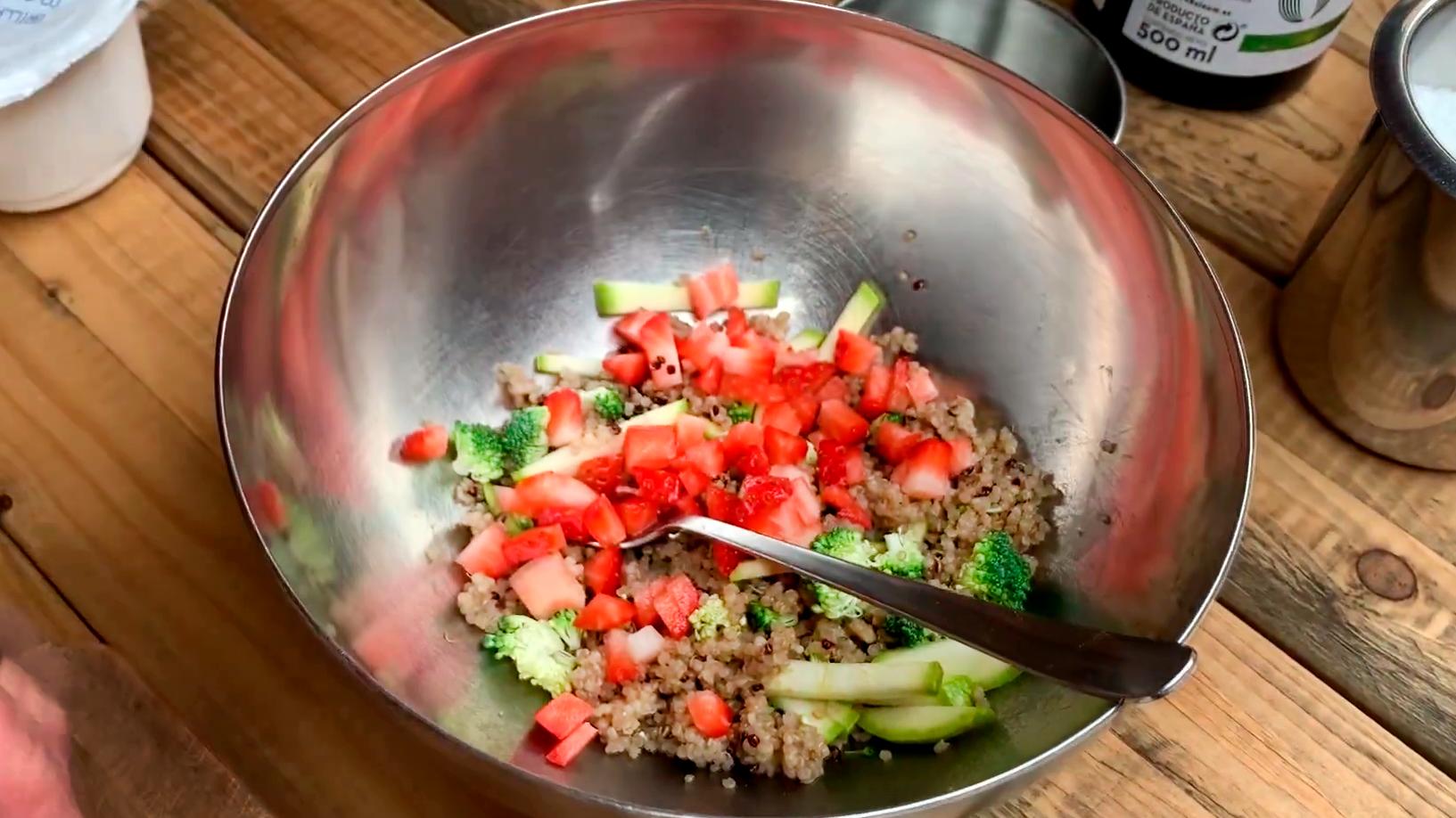 ensalada con quinoa Brillante