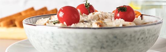 tomate cherry receta ensalada de arroz basmati con pollo y manzana