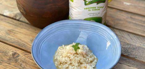 Risotto de gambas con arroz Brillante Sabroz