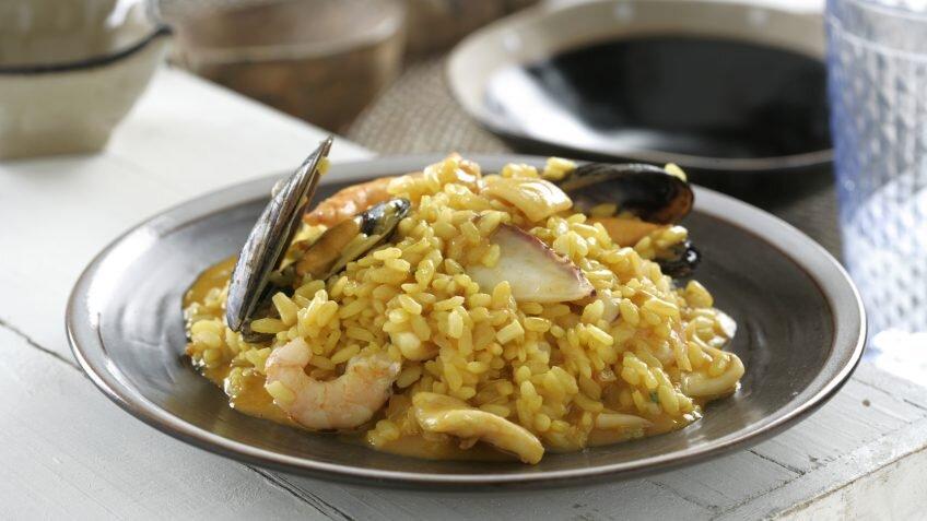 Receta de arroz meloso de marisco