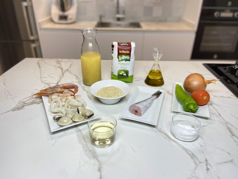 Ingredientes para hacer Risotto di frutto di mare