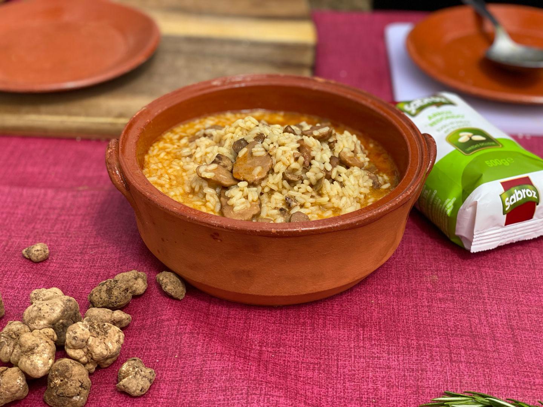 Plato de arroz con turma