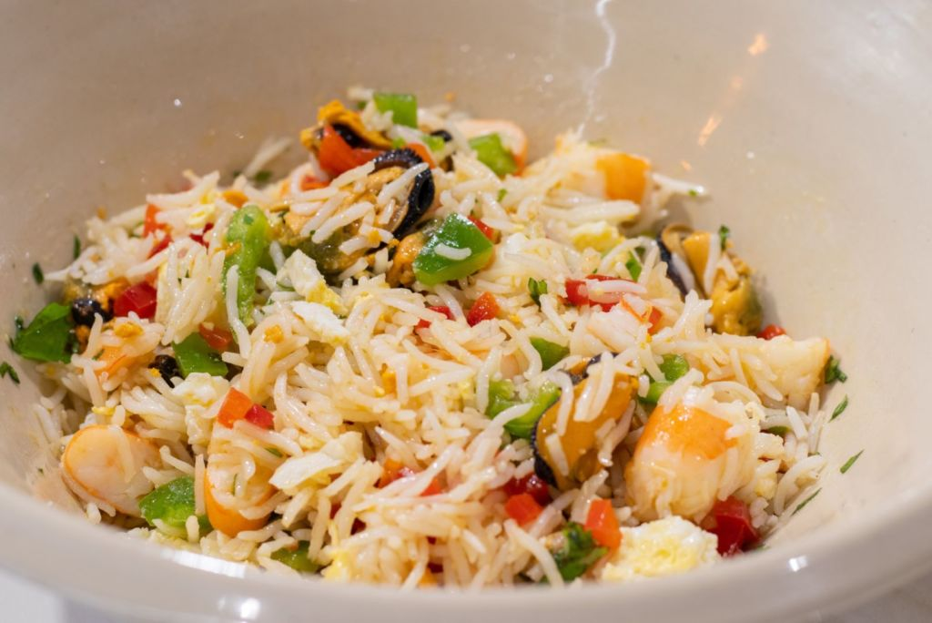Ensalada marinera de arroz basmati